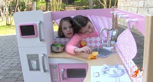kitchen set review kids toy unboxing kidkraft grand gourmet corner kids toy kitchen unboxingreview and pret