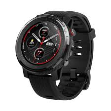 "<b>Amazfit Stratos 3</b> Smartwatch with 1.34"" Full Round Transflective ..."