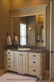 ideas mirror frame bathroom moulding nice way to frame a bathroom mirror