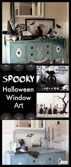 love halloween window decor: learn how to use vinyl that you cut yourself or buy precut decals to