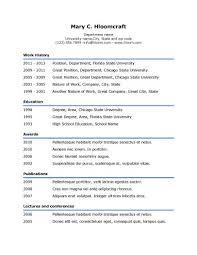 simple resume templates • hloom comsimple underline