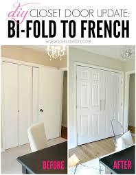 diy closet door update how to update your old bi fold doors to modern bi fold doors home office