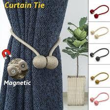 <b>1PCS</b> Magnetic Curtain <b>Home Decor</b> Hooks Rope Backs Holdbacks ...