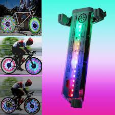 <b>Bicycle Motorcycle Bike</b> Tyre Tire Wheel Lights 32 LED Flash Spoke ...