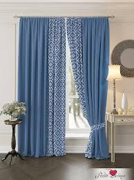 Классические шторы luivi цвет: синий <b>томдом</b> из ткани blackout в ...