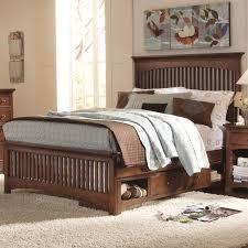 industries mission bedroom queen bed slat