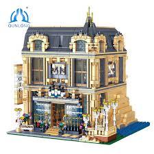 <b>QUNLONG City Buildings</b> Figures Sets Friends House Hotel ...