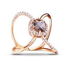 <b>Кольцо</b> из золота с раух-<b>топазом</b> и фианитами — Ювелирный ...