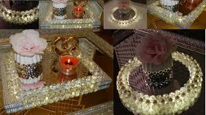 Dollar Tree <b>DIY Diamonds</b> and Pearls Vanity Trays  <b>DIY</b> Elegant ...