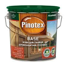 Деревозащитная <b>грунтовка Pinotex Base</b>, 2,7 л - купите по низкой ...