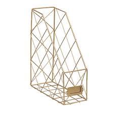 Single <b>Grid</b> Iron <b>Storage Rack Shelf</b> Desktop Book Magazine ...