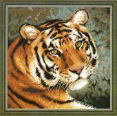 Амурский тигр <b>1282</b>. Вышивка нитками > Риолис > Животные.