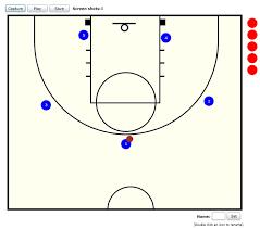 basketball playbook maker   team on threebasketball playbook designer half court