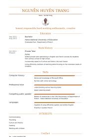 private tutor resume samples   visualcv resume samples databaseprivate tutor resume samples