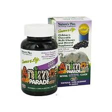 Nature's Plus <b>Source of Life Animal</b> Parade Children's Chewable ...