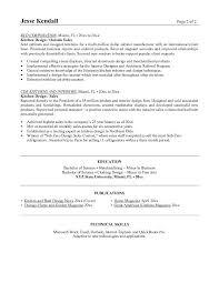free kitchen designer resume example