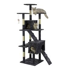 Go Pet Club Economical Gray <b>Cat Tree with Sisal</b> Scratching Posts ...