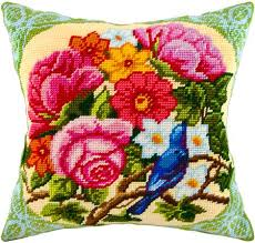 Nightingale pillowcase cross stitch DIY embroidery <b>kit</b>, needlework ...
