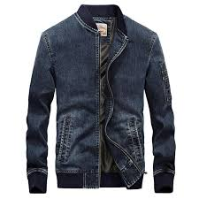 Denim Jacket Men Fashion <b>Embroidered</b> Spring <b>Autumn Stand</b> ...