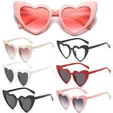 <b>New</b> Fashion <b>Heart Shape Sunglasses</b> for Women <b>Cute</b> Cat Eye ...
