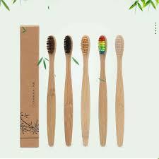 10Pcs <b>Portable Soft Bristle Bamboo</b> Toothbrush Travel Trip Oral ...