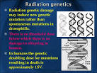 radiation genetics