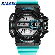 Jam tangan digital pria keren <b>LED Digital Wrsitwatches</b> Army Watch ...