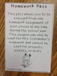 ideas about Homework Pass on Pinterest   No Homework  Late     Homework pass for students who have completed all of their homework in one month