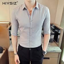 2019 <b>HIYSIZ</b> New <b>Men Shirts</b> 2019 Summer <b>Fashion</b> Trend <b>Men</b> ...