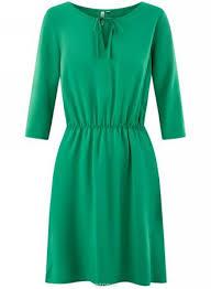 Платье Oodji, Цвет: <b>Изумрудный</b>. 11913053/42540/6D00N ...