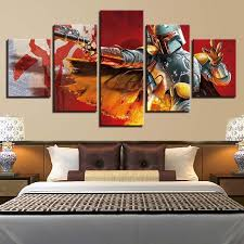 Online Shop <b>Modular Pictures</b> Wall Art HD Prints <b>5 Pieces</b> Star Wars ...