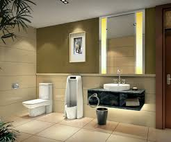f astounding small bathroom design with floating bathroom vanity under vertical wall mirror and white elongated toilet as well as beige ceramic flooring astounding small bathrooms ideas