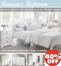 Off White Bedroom Furniture Romance White Bedroom Furniture Bedside Table Chest Of Drawers