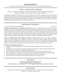 example clinical operations manager resume   free sample