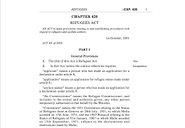 asylum seekers and refugees the human rights library refugees act chapter 420 the government of 2011