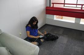 meara s photojournalism cutline assignment mai asi is working on a biology assignment in a quiet corner on thursday at chs