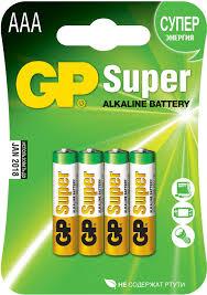 <b>Батарейка</b> Super Alkaline <b>LR03</b> (<b>4</b> шт; блистер) <b>GP 24A</b>-CR4/<b>24A</b> ...