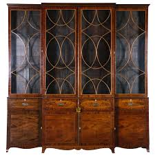 george iii mahogany breakfront secretary from a unique collection of antique and modern secretaires at antique english country armoire circa 1830s