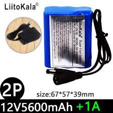 LiitoKala 12V 2200mah 3000mah 3500mah <b>5600mah battery</b> ...