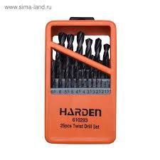 <b>Набор сверл HARDEN</b> 610293, по металлу, HSS, 25 шт., 1-13 мм ...
