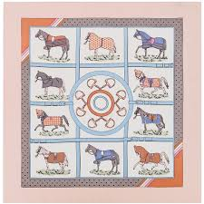 POBING 70cm*70cm Striped <b>Plaid Horse</b> Small Square <b>Scarves</b> ...