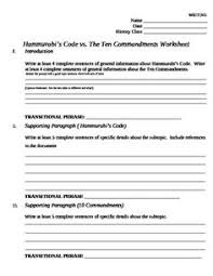 hammurabi    s code analysis worksheet   worksheets  law students and law