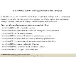 top 5 construction manager cover letter samples in this file you can ref cover letter construction manager cover letter