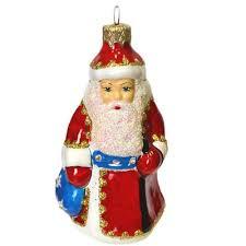 <b>Елочная игрушка Дед Мороз</b> стекло (высота 14 см) – выгодная ...
