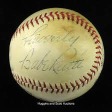 babe ruth 1937 sinclair babe ruth baseball contest ball