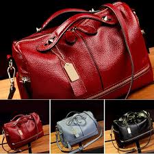 Fashion <b>Women Genuine Leather Tote</b> Handbag Pillow Shoulder ...