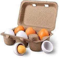 Amazon.com: StillCool <b>6pcs Wooden</b> Easter Eggs Yolk <b>Pretend</b> ...