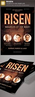 risen church flyer template by loswl graphicriver risen church flyer template church flyers