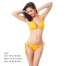 Women <b>Sexy Pure</b> Color <b>Swimsuit</b> Two Piece Suits Sling <b>Bikini</b> ...
