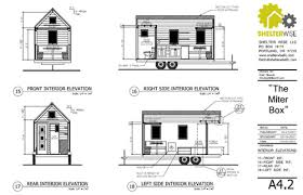 Miter Box Tiny House Plans   PADtinyhouses comMiter Box Tiny House Plans